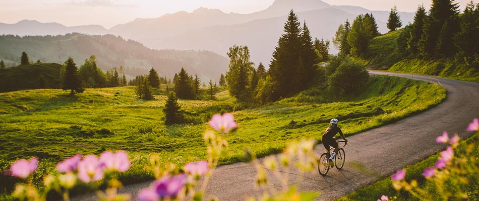 Road biker in Morzine summer@950px
