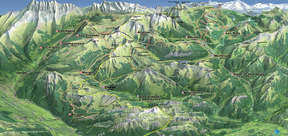 Click to explore the mountain biking lift map.
