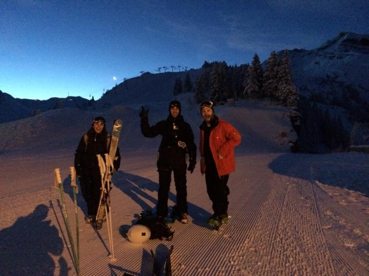 Early morning tour up Arare with mountain mavericks team