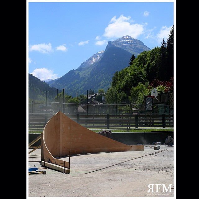 Concrete skatepark france - Morzine