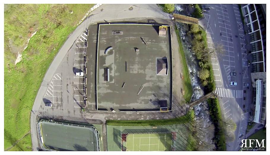 Morzine Skatepark before concrete new park