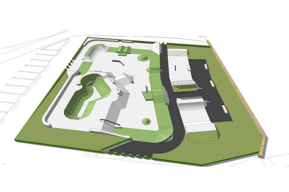 Morzine Skateboard Park Plan - France Concrete Bowl Skateboarding