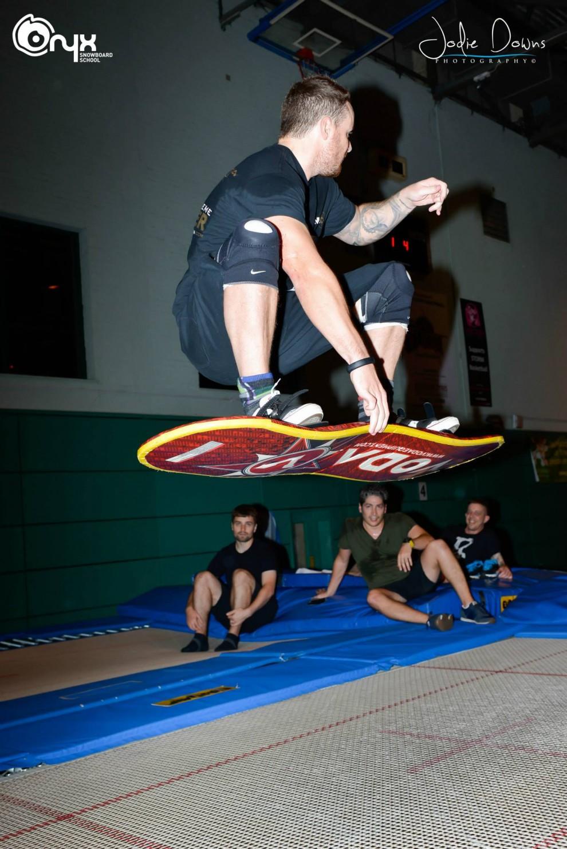 Tarmpolebne Coaching from Onyx Snowboard School