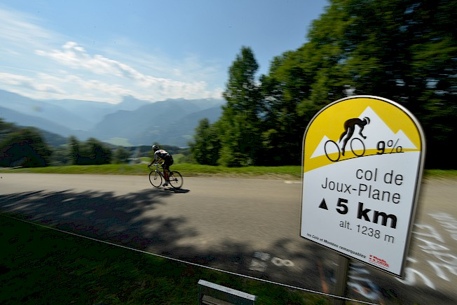 Col de Joux Plane road cycling in Morzine