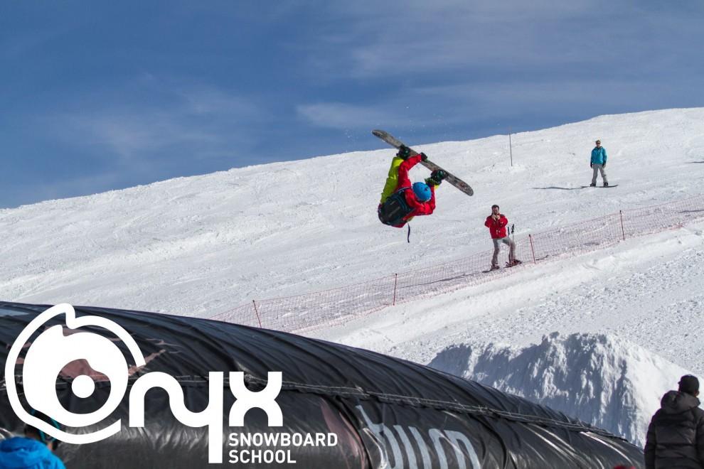 Airbag Training with Mountain Mavericks and Onyx Snowboard Camps, Morzine, Avoriaz