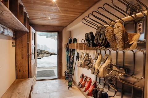 Mountain Mavericks chalet boot room