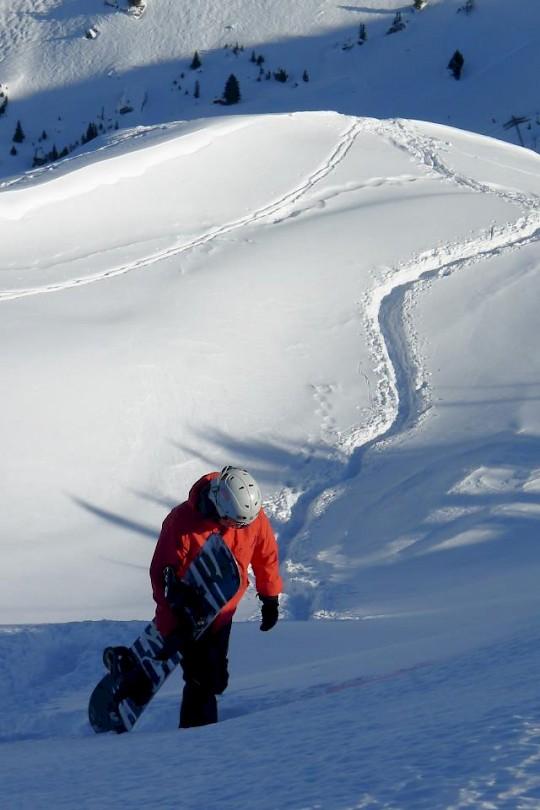 Hiking with snowboard in Morzine | Mountain Mavericks