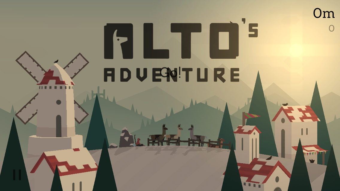 Altos Adventure screen shot opening