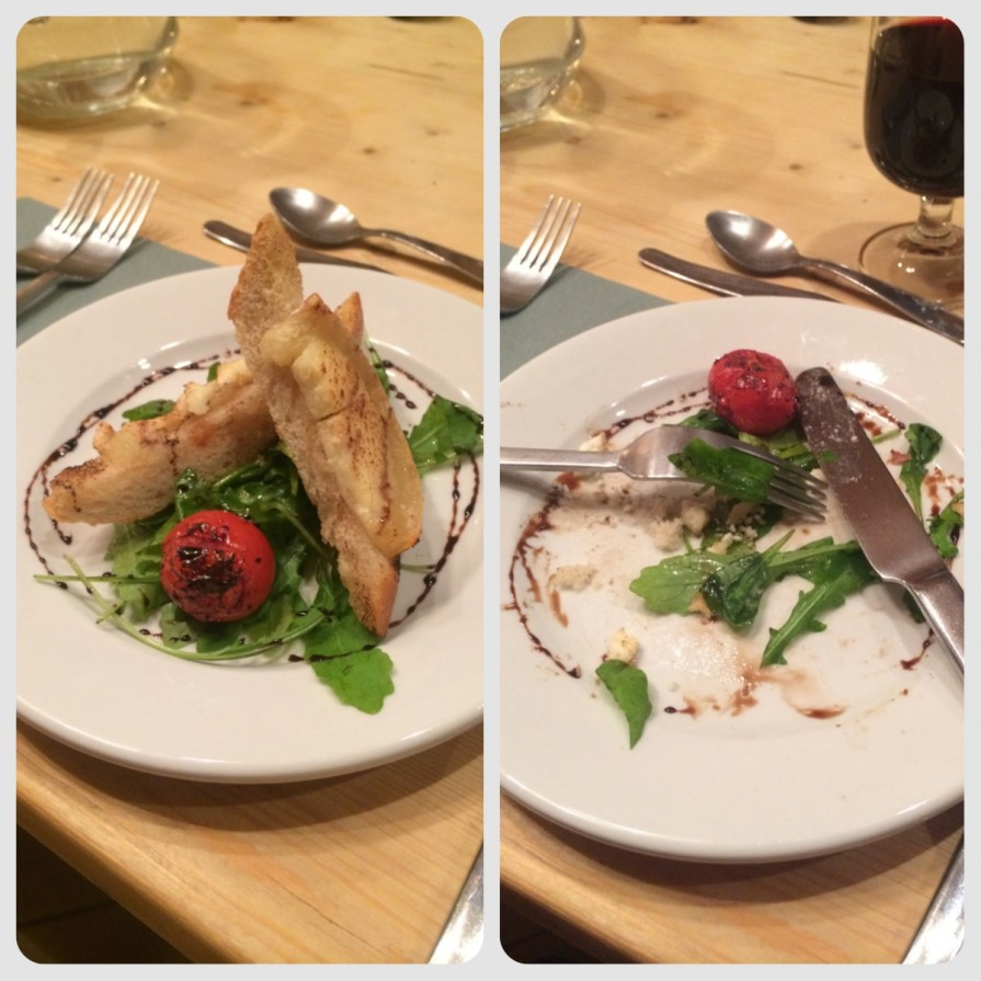 This is an example of Morzine based chalet company Mountain Mavericks Food. Alpine Goats Cheese Starter