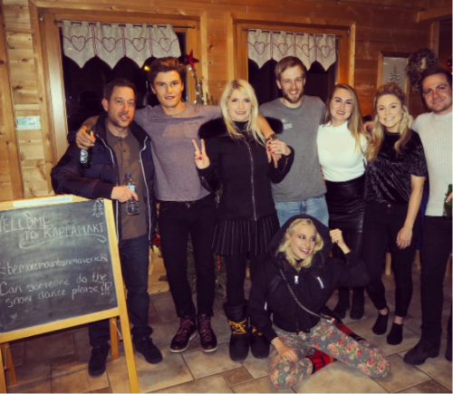 pixie lott, oliver cheshire and family staying in chalet kaplamaki