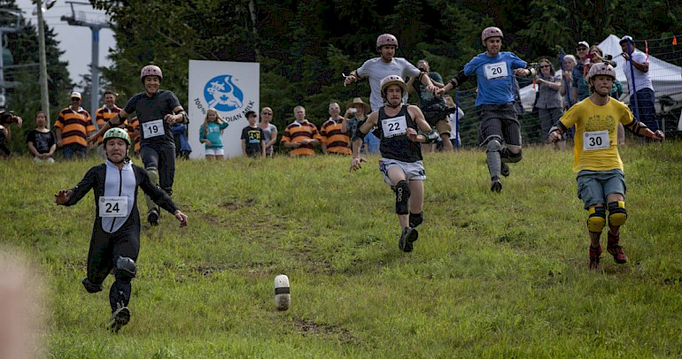 Cheese Rolling in Les Gets for Crankworx