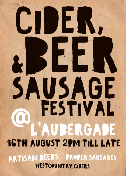 Hotel L'aubergade Morzine hosts the first Cider, Beer and Sausage festival!