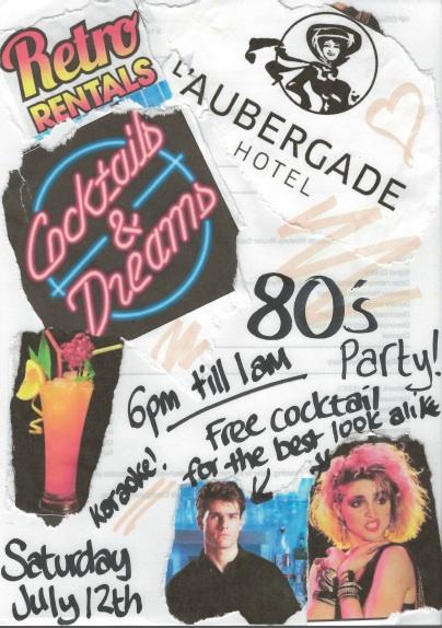 Hotel L'aubergade, Morzine, 80's party!