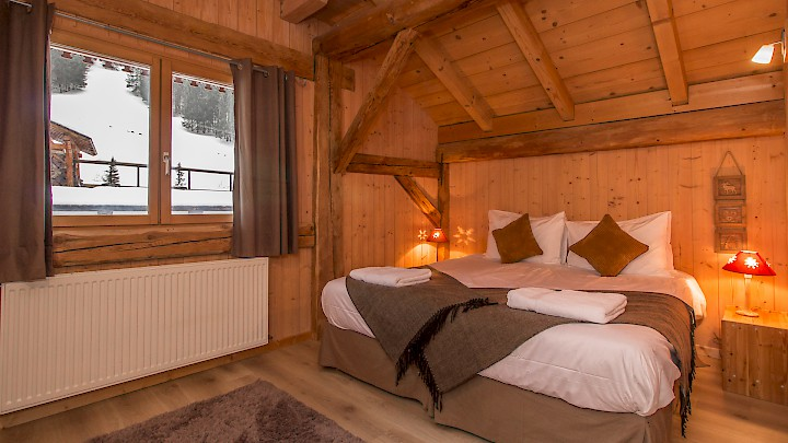 Double Bedroom with View in Chalet L'Atelier