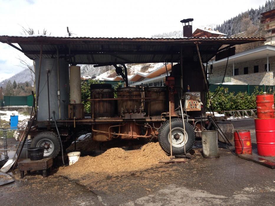 A modern day distillery in Morzine
