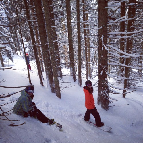 The best place to snowboard and ski in trees in Europe