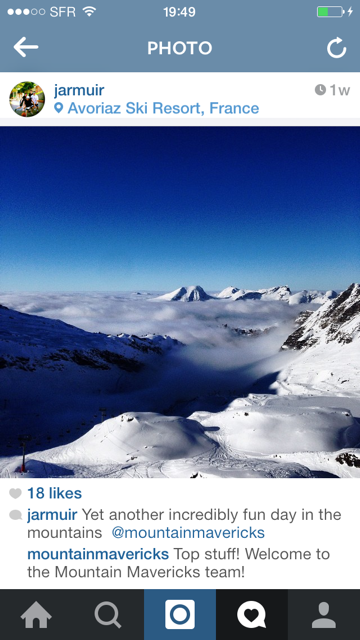 Jobs in Alps | Mountain Mavericks instagram |