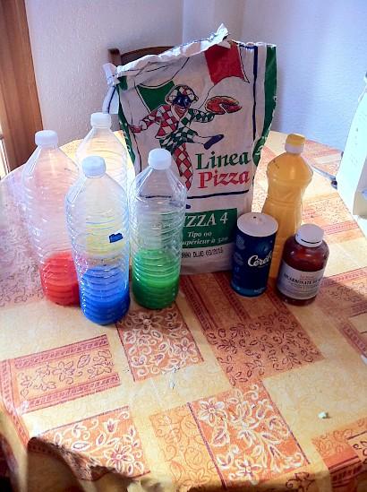 Ingredients to make homemade playdough