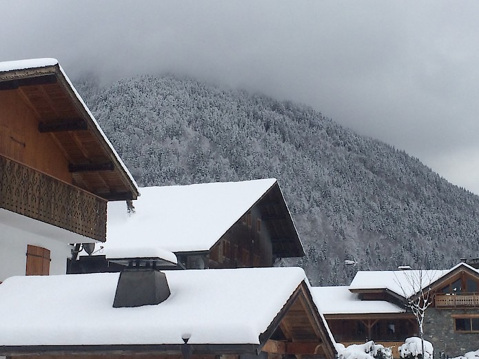 Snow in Morzine, France