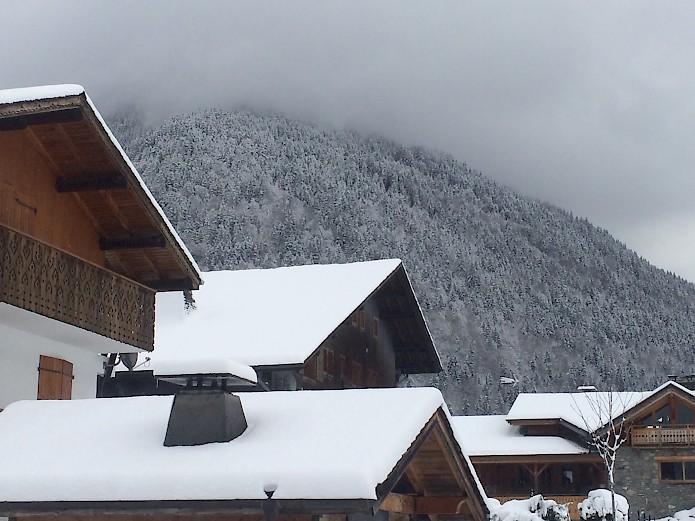 Snow in Morzine, France
