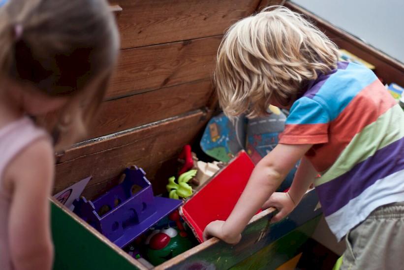 Kids play area in Morzine - L'Aubergade Hotel