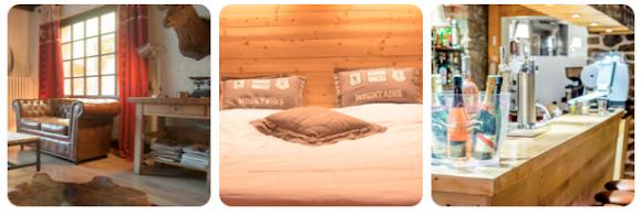 Lounge area, bed, bar - Le Cottage, Morzine