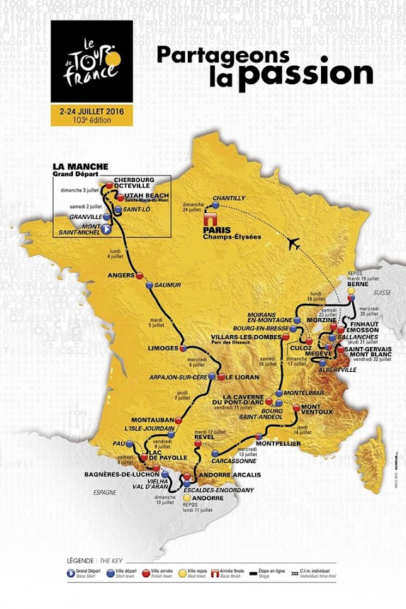 Tour De France Morzine 2016 Route