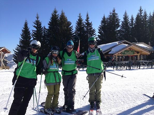 Mountain Mavericks competing in The Alpine Challenge Morzine