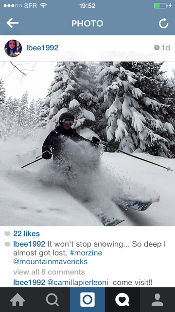 Snow Jobs Mountain Mavericks Chalets Morzine - Ski Holiday Instagram