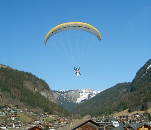 Parapenting in Morzine with Mountain Mavericks and L'Aubergade Hotel