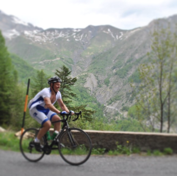 Richard 197624 getting in some roading biking up Col D'allos, Col L'auterea and Alpe d'huez (via instagram)