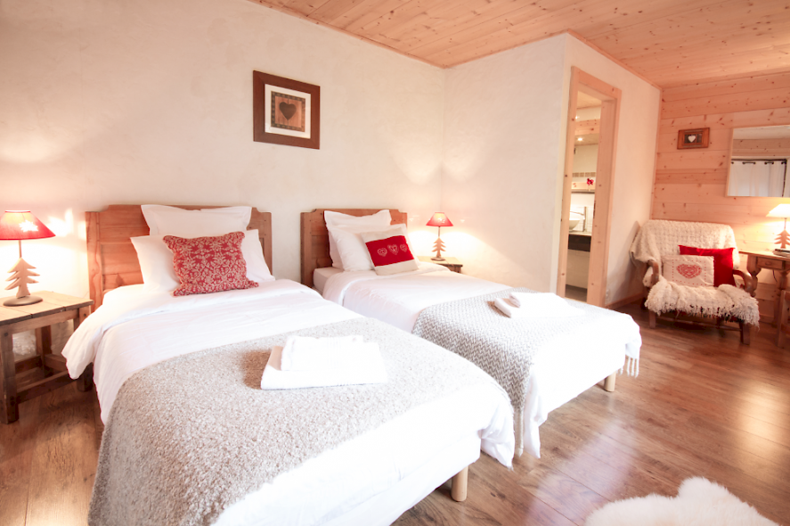 Twin Room In Morzine France for Chalet Ski Holiday Luxury