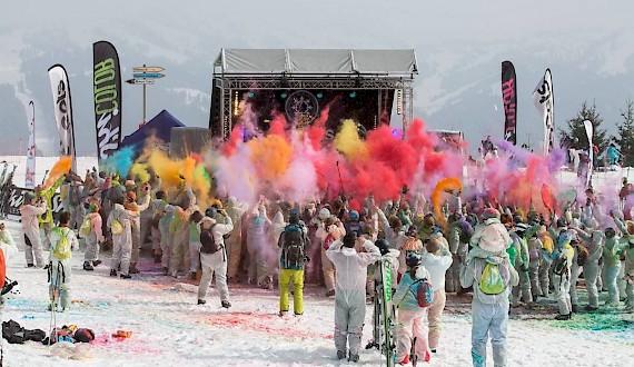 Ski colour in Les Gets - March 2017