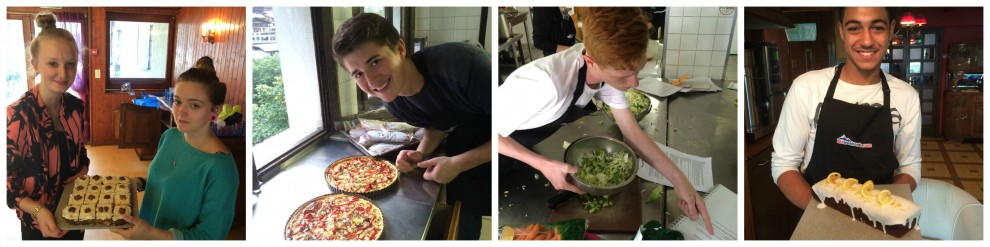 Some of the creations from the Snow Camp team during their cookery week in Morzine!
