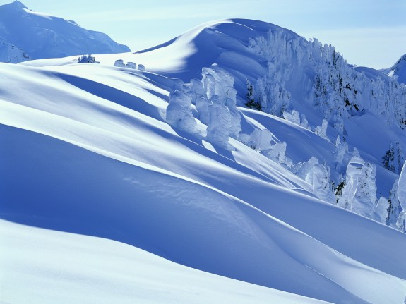 The sort of lovely snow we hope for on our chalet holidays