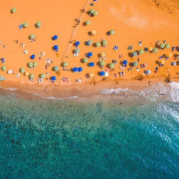 Malta aerial beach view